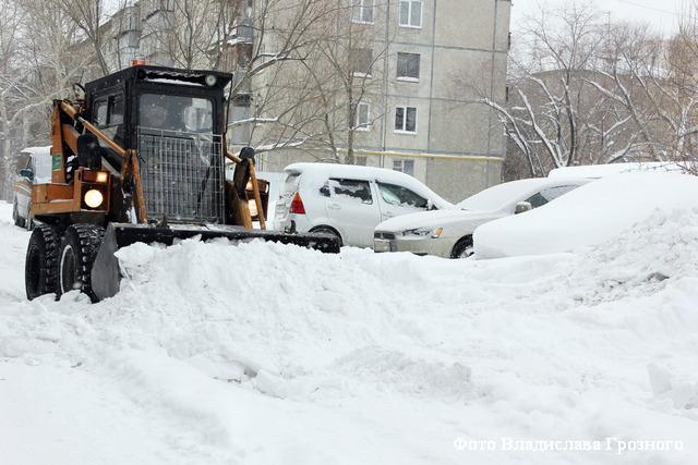 курган снег уборка