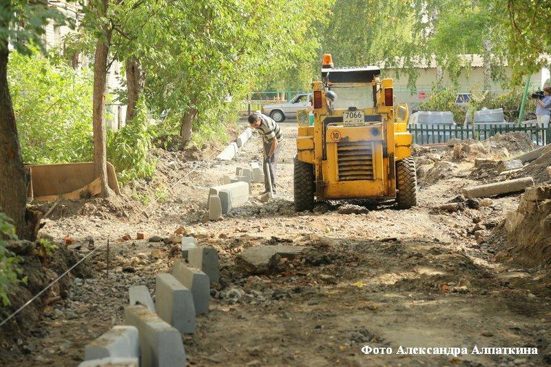 В Кургане идёт благоустройства дворов, парков и скверов