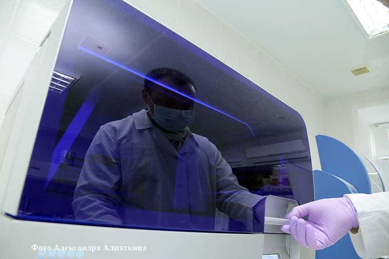 Исследование ДНК в экспертно-криминалистическом центре УМВД России по Курганской области.