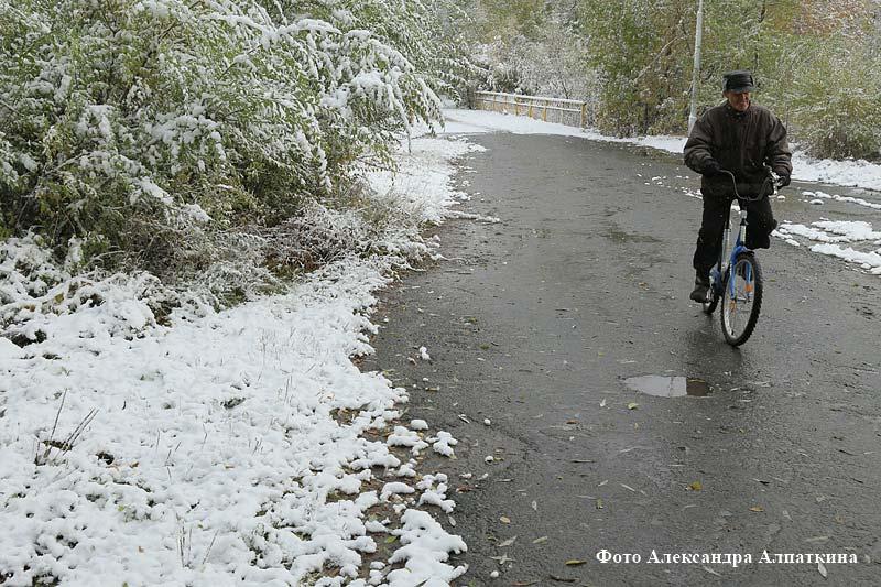 В Кургане выпал первый снег