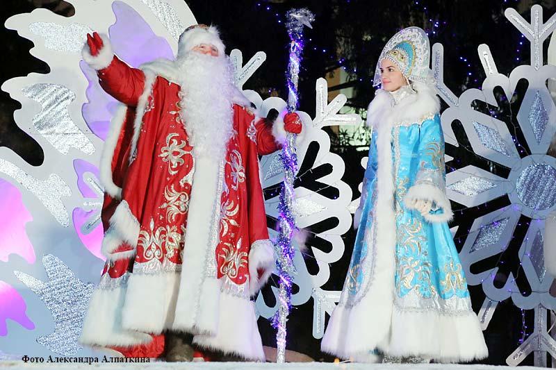 Курганцы встречают Новый год на центральной площади города.