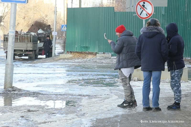 Коммунальная авария на улице Горького.