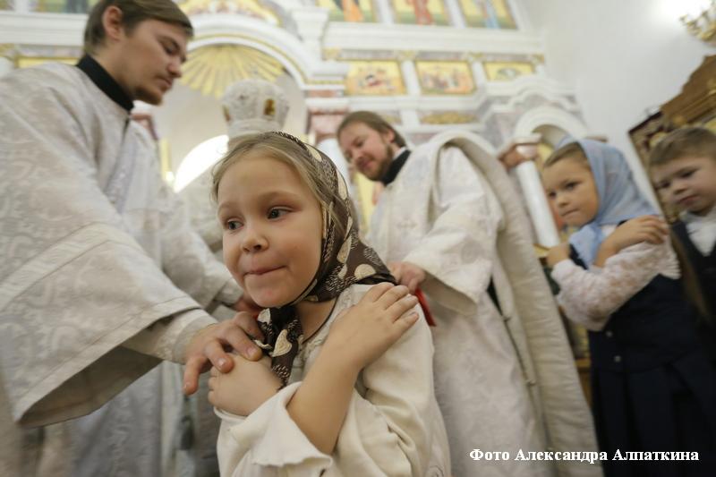 Освящение воды в Богоявленском храме