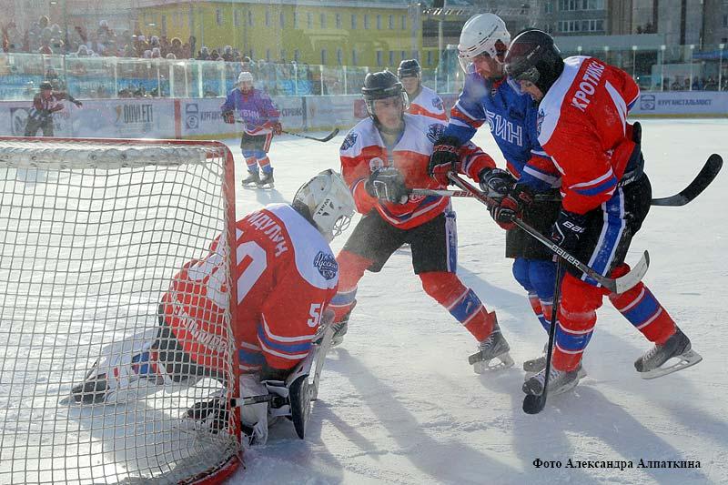 Матч регулярного чемпионата ВХЛ «Зауралье» — «Рубин».