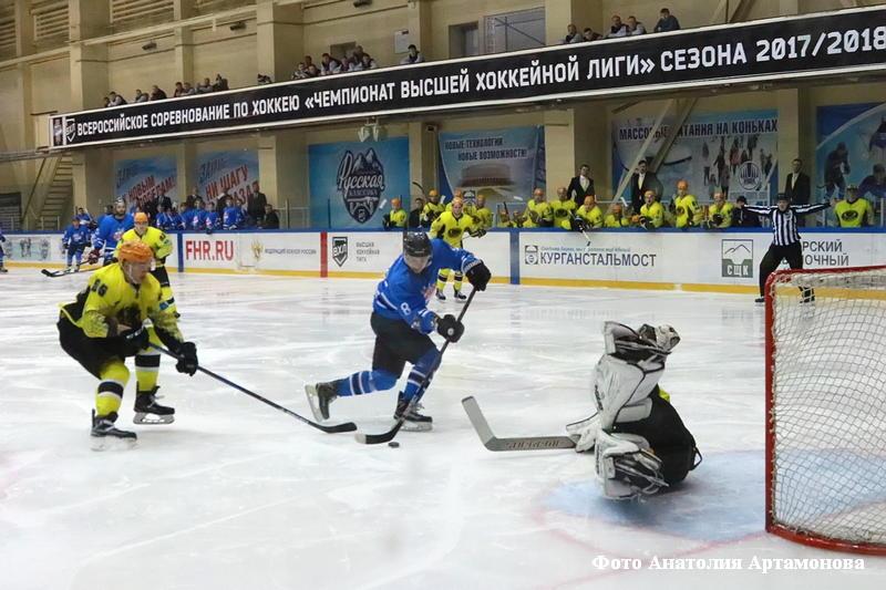 """ХК """"Зауралье"""" завершил первый этап чемпионата ВХЛ сезона 2017/2018"""