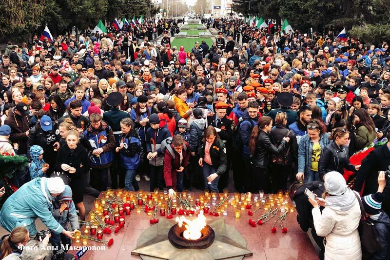 Сегодня в Кургане зажглись свечи памяти