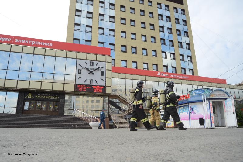 """Учения по ликвидации пожара в ТЦ """"Дом быта"""""""