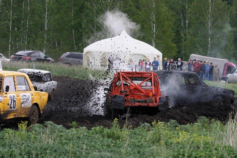 Автокросс в деревне Заборская