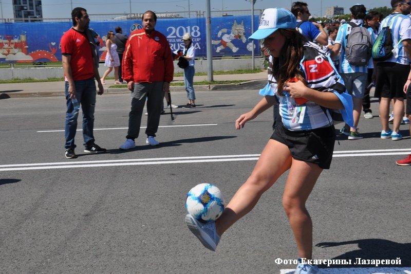 Болельщики на Чемпионате мира по футболу.