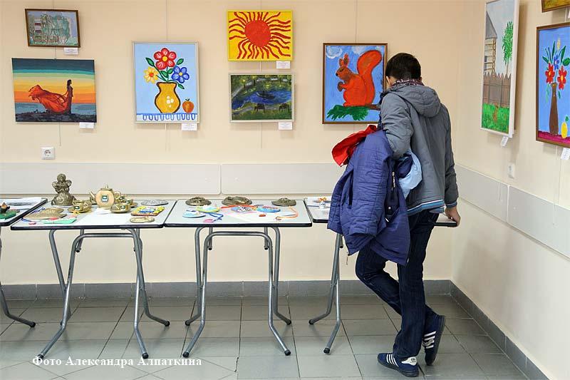 Выставка творчества людей с ограниченными возможностями здоровья.