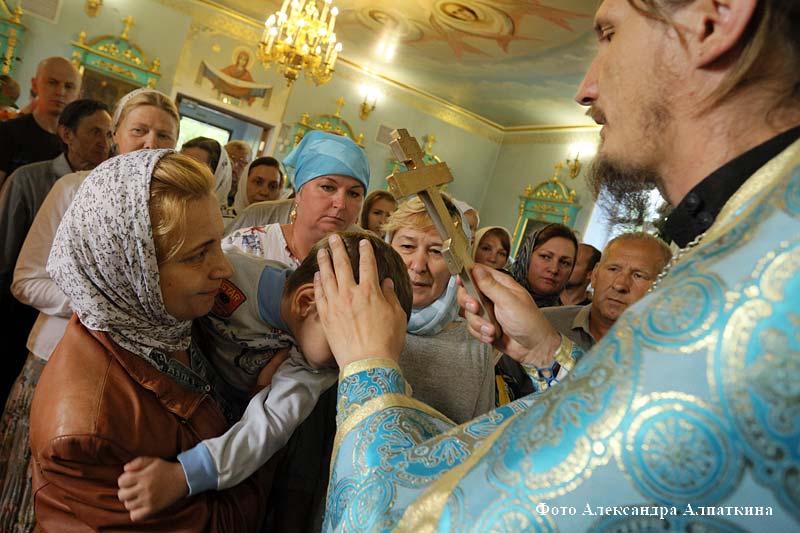 Празднование дня Казанской Божией матери в селе Чимеево.