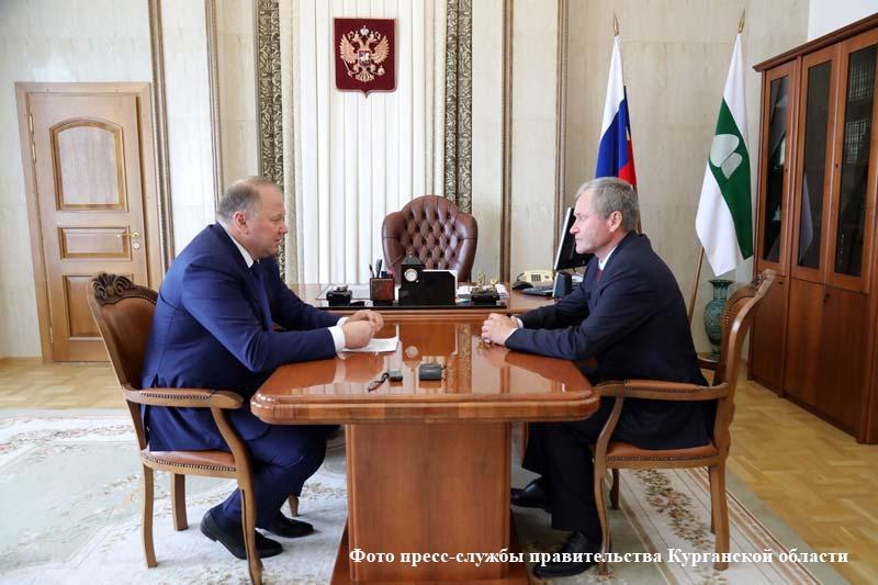 Визит полномочного представителя Президента РФ в Уральском федеральном округе Николая Цуканова в Курганскую область.