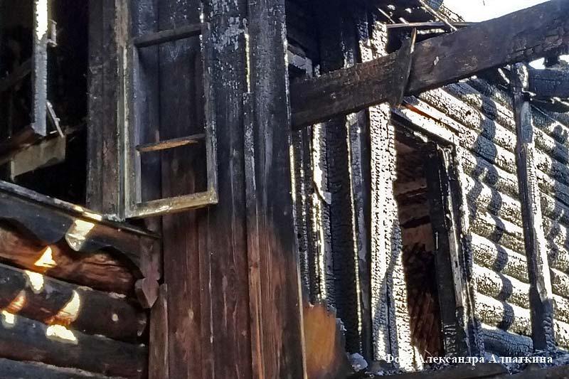 спасли из горящего дома