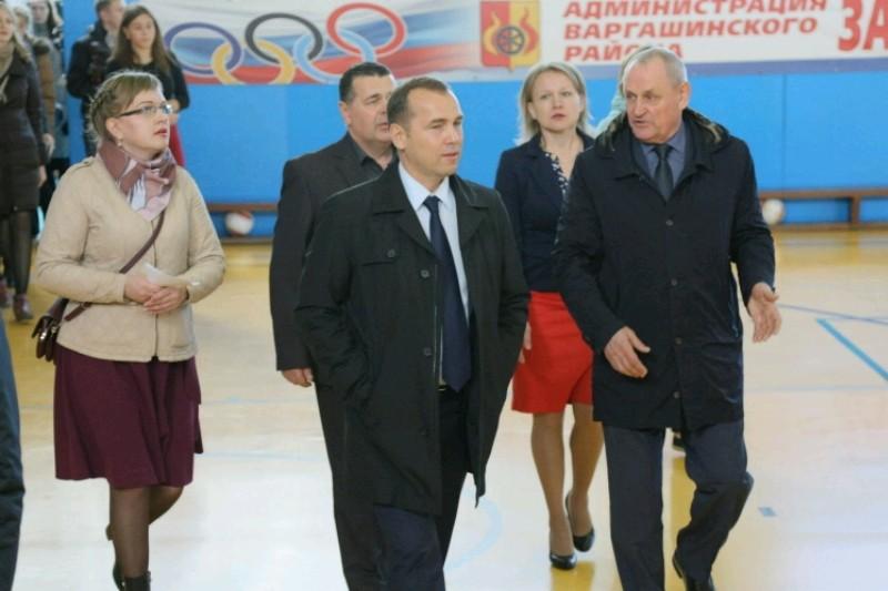 Врио губернатора Вадим Шумков в Варгашинском районе