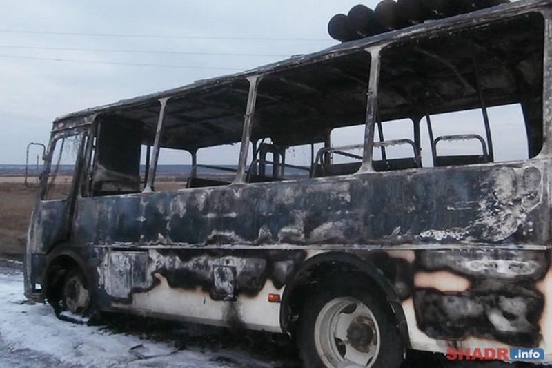 Новости Курган сгорел рейсовый автобус