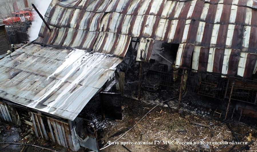 Ликвидация пожара на улице Омская.