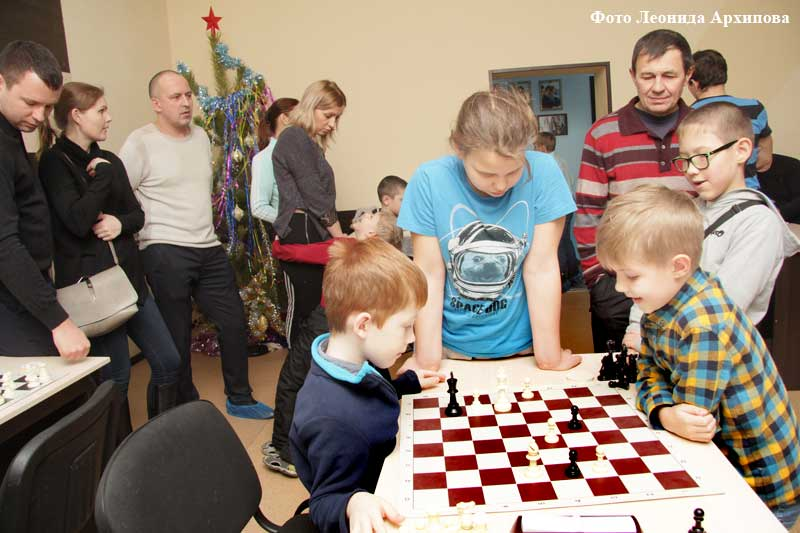 Новогодний семейный турнир по шахматам