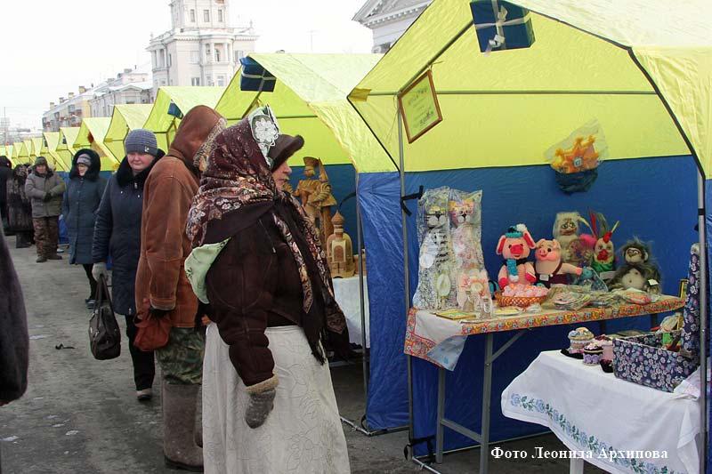 Открытие Рождественской ярмарки-выставки.