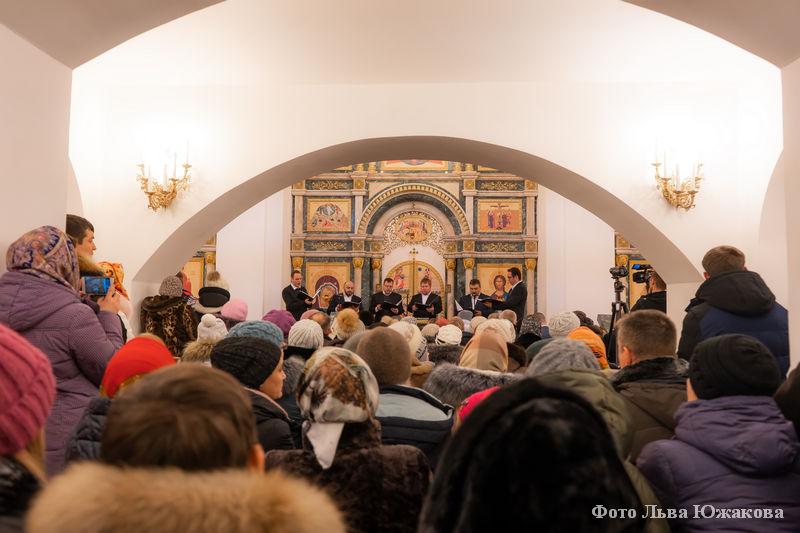 Крещение в селе Частоозерье.