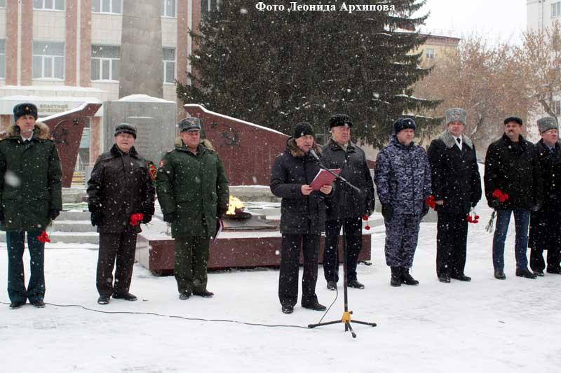 Торжественный митинг, посвященный Дню защитника Отечества.