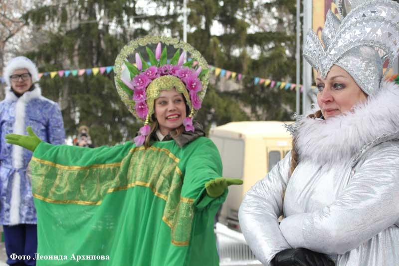 Курганцы празднуют Масленицу.