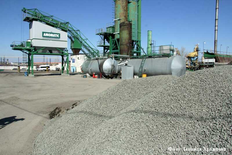Асфальтобетонный завод открыл рабочий сезон в Кургане.