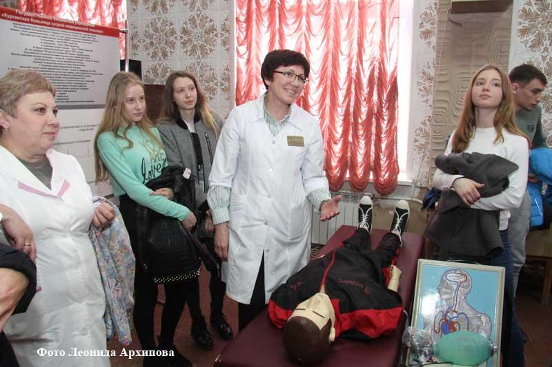 Школьники узнали о профессии врача.