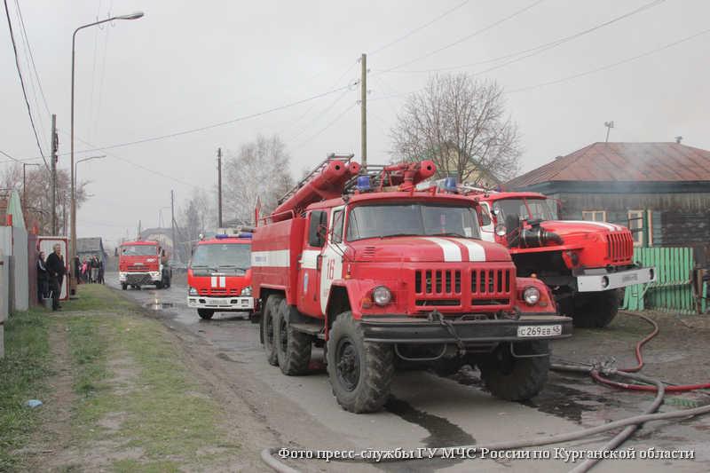 Ликвидация пожара в поселке Смолино.