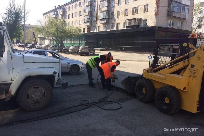 В Кургане продолжается ремонт дорог