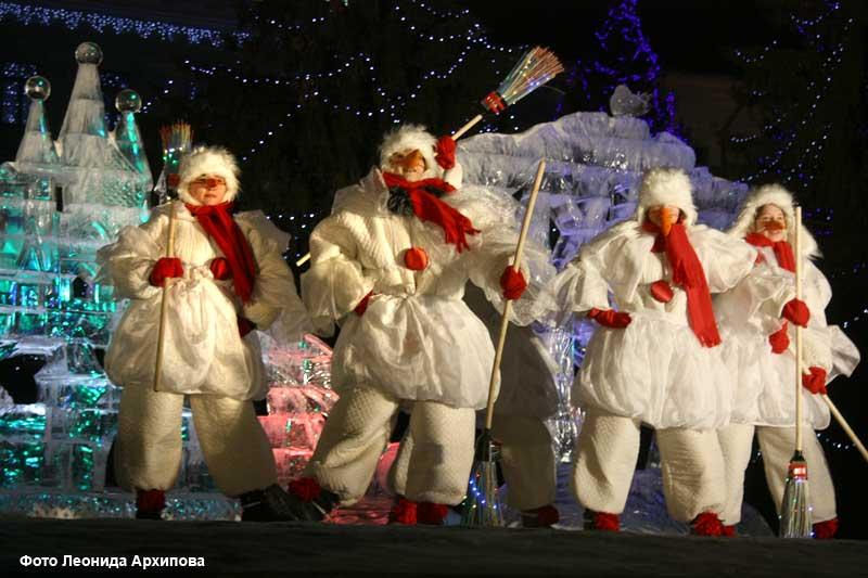 Открытие новогодней ёлки на центральной площади Кургана