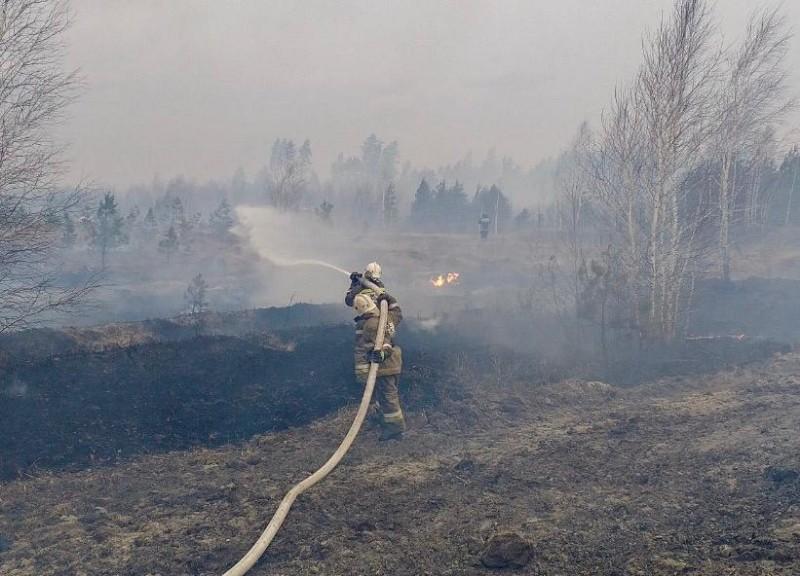 Ликвидация пожара в Кетовском районе