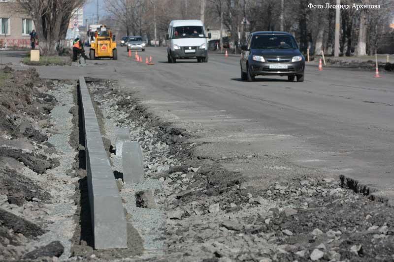 В Кургане начался ремонт дорог.