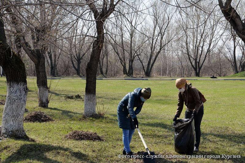 Весенний месячник чистоты в Кургане