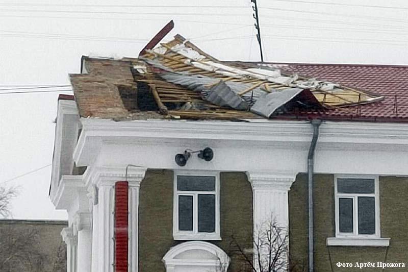 Последствия ураганного ветра в Курганской области