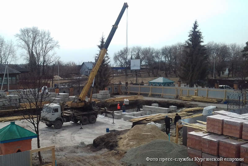 Началось строительство новой чимеевской церкви.