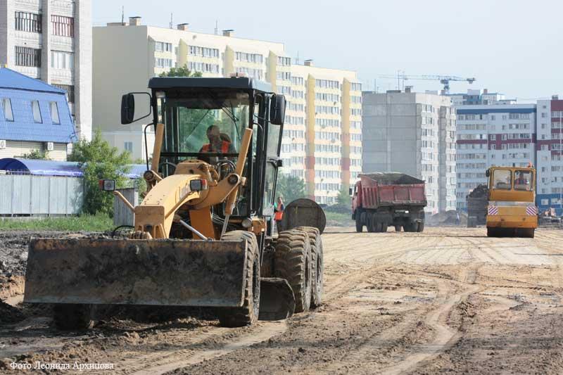 Строительство дорог в Кургане в рамках федеральной программы БКАД
