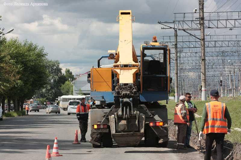 В Кургане продолжается ремонтная дорожная кампания