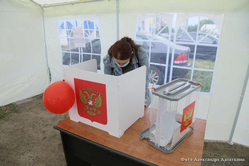 В Кургане проходит голосование по поправкам в Конституцию на придомовых территориях