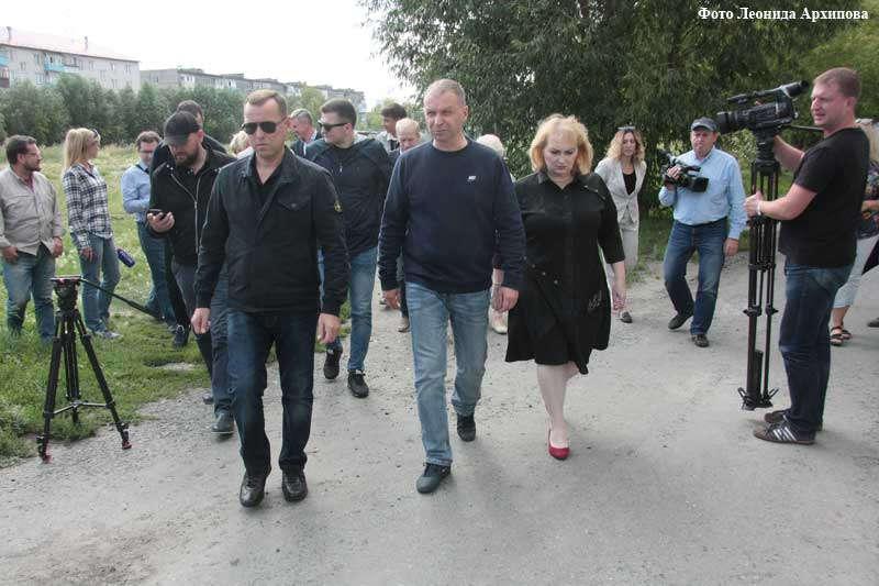 Объезд руководителей области и города