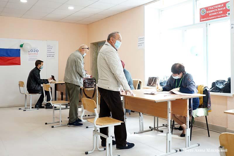 В Кургане продолжается голосование.