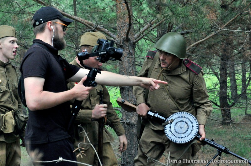В Кетовском районе идут съёмки военных фильмов